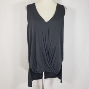 Express One Eleven Gray Hi-Lo Low Cut Top Sz Large